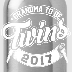 Grandma To Be Twins 2017 T-Shirts - Water Bottle