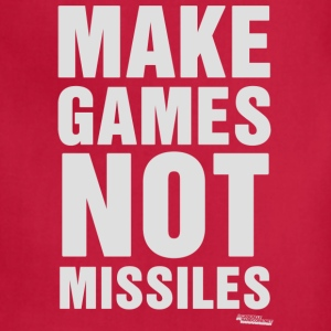 Make Games Not Missiles Hoodies - Adjustable Apron