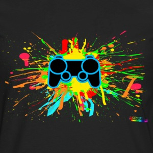 Controller Splatter Hoodies - Men's Premium Long Sleeve T-Shirt