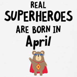 Superheroes are born in April Sutn3 Baby Bodysuits - Men's T-Shirt
