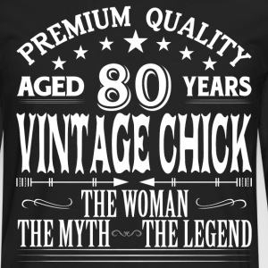 VINTAGE CHICK AGED 80 YEARS T-Shirts - Men's Premium Long Sleeve T-Shirt
