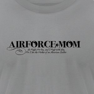 I am the Mom of an American Soldier - Men's T-Shirt by American Apparel
