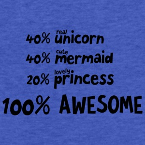 Unicorn Mermaid Princess S5i9v Hoodies - Fitted Cotton/Poly T-Shirt by Next Level