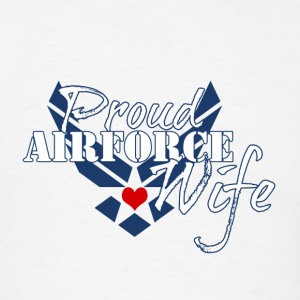 Patriotic Proud Air Force Wife Insignia - Men's T-Shirt