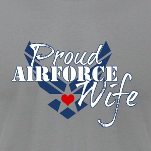 Patriotic Proud Air Force Wife Insignia - Men's T-Shirt by American Apparel
