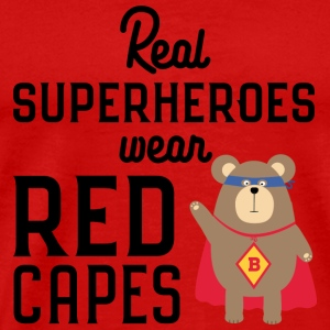 Superhero red Cape grizzly Svq0t Caps - Men's Premium T-Shirt