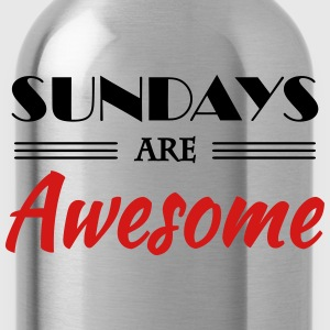 Sundays are awesome T-Shirts - Water Bottle