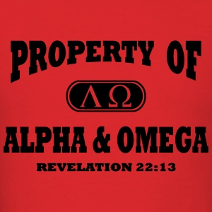Alpha Omega Hoodies - Men's T-Shirt