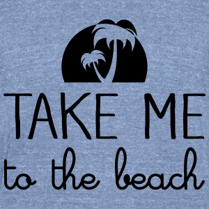 Take Me To The Beach Long Sleeve Shirts - Unisex Tri-Blend T-Shirt by American Apparel