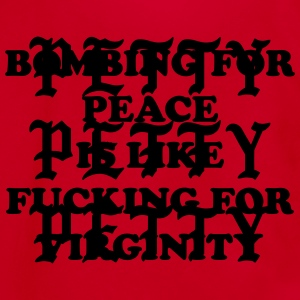 Bombing for peace is like fucking or virginity T-Shirts - Unisex Fleece Zip Hoodie by American Apparel