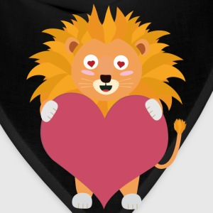 Lion with big heart Sw292 T-Shirts - Bandana