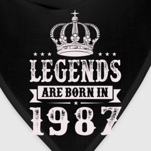 Legends Are Born In 1987 T-Shirts - Bandana