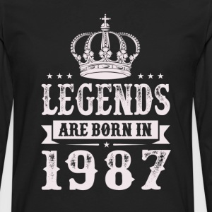 Legends Are Born In 1987 T-Shirts - Men's Premium Long Sleeve T-Shirt