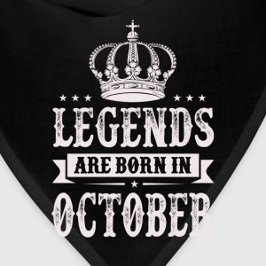 Legends Are Born In October T-Shirts - Bandana