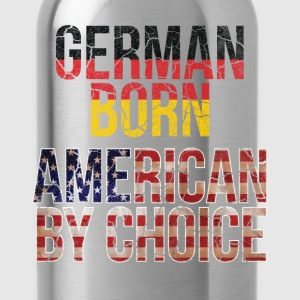 German Born American by Choice National Flag Shirt T-Shirts - Water Bottle
