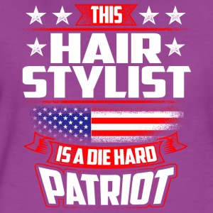 4th Of July Hair Stylist Die Hard Patriot Gift Tanks - Women's Premium T-Shirt