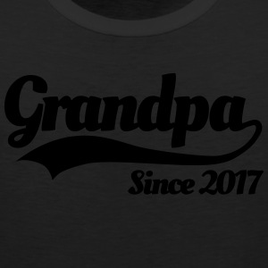 Grandpa since 2017 T-Shirts - Men's Premium Tank