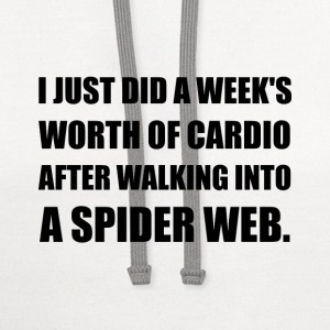 Cardio After Walking Through Spider Web - Contrast Hoodie