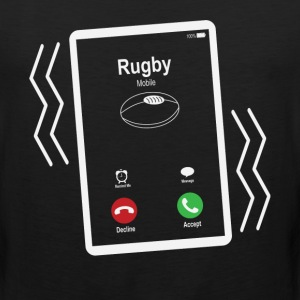 Rugby Mobile is Calling Mobile T-Shirts - Men's Premium Tank