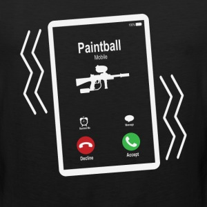 Paintball Mobile is Calling Mobile T-Shirts - Men's Premium Tank