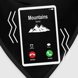 Mountains Mobile is Calling Mobile T-Shirts - Bandana