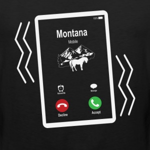 Montana Mobile is Calling Mobile T-Shirts - Men's Premium Tank