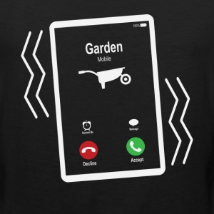 Garden Mobile is Calling Mobile T-Shirts - Men's Premium Tank