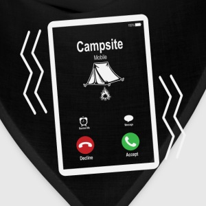 Campsite Mobile is Calling Mobile T-Shirts - Bandana