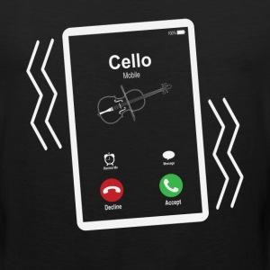 Cello Mobile is Calling Mobile T-Shirts - Men's Premium Tank