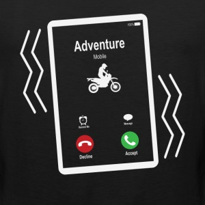 Adventure Mobile (Motocross) is Calling Mobile T-Shirts - Men's Premium Tank