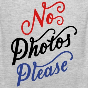 No Photos Please T-Shirts - Men's Premium Tank