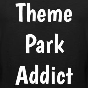 Theme Park Addict Roller Coaster Fan T-Shirt T-Shirts - Men's Premium Tank