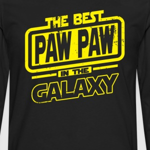 The Best Paw Paw In The Galaxy T-Shirts - Men's Premium Long Sleeve T-Shirt