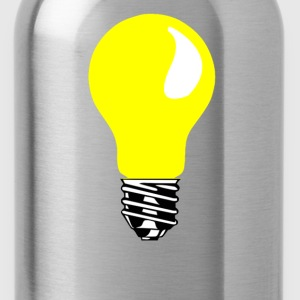 yellow light bulb - Water Bottle