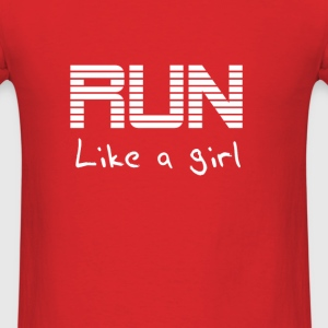 Run like a girl Hoodies - Men's T-Shirt