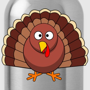 Turkey Cartoon  - Water Bottle