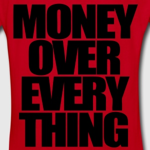 Money Over Everything Zip Hoodies/Jackets - stayflyclothing.com - Women's V-Neck T-Shirt