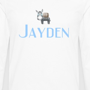 jayden name DONKEY CUTE LITTLE BOYS shirt - Men's Premium Long Sleeve T-Shirt