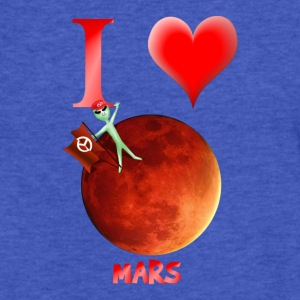I Love Mars - Fitted Cotton/Poly T-Shirt by Next Level