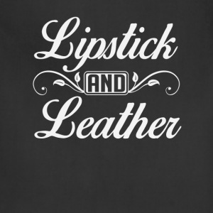 Lipstick and Leather T-Shirts - Adjustable Apron
