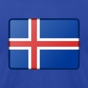 Iceland Flag Hoodies - Men's T-Shirt by American Apparel