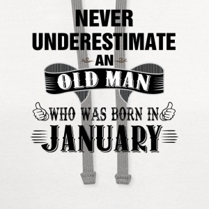 Never Underestimate An Old Man Who Was Born In Ja T-Shirts - Contrast Hoodie
