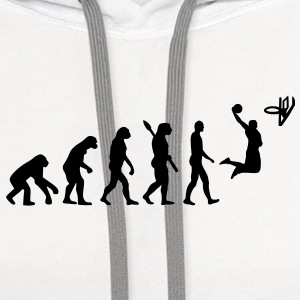 Evolution Basketball Buttons - Contrast Hoodie