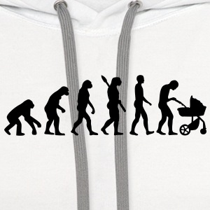 Evolution Baby parents Buttons - Contrast Hoodie
