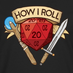 How I Roll D&D Tshirt - Men's Premium Long Sleeve T-Shirt