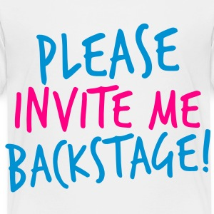 PLEASE INVITE ME BACKSTAGE! music rock metal Kids' Shirts - Toddler Premium T-Shirt