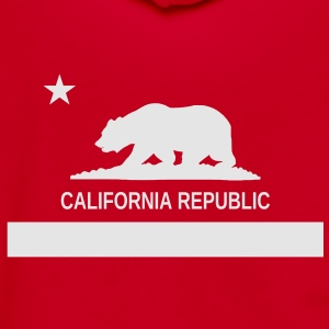 California Republic Hoodie - Unisex Fleece Zip Hoodie by American Apparel