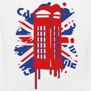 red telephone box with a British flag Kids' Shirts - Men's Premium Tank