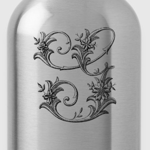 Floral Monogram Alphabet Letter G - Water Bottle