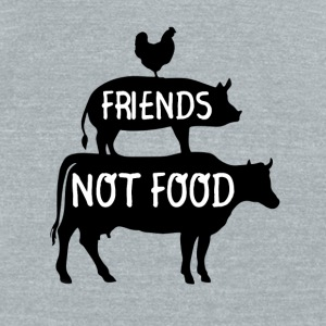 Funny Vegan Shirt - Friends not Food  - Unisex Tri-Blend T-Shirt by American Apparel